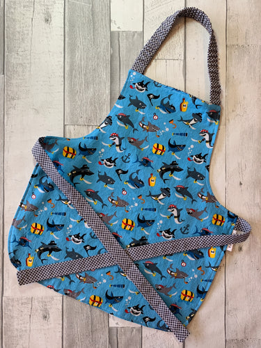 Pirate Sharks Toddler Apron