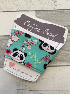 Panda Take Out Coffee Cozy