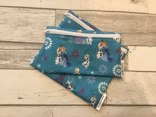 Princess Reusable Snack Bag Set