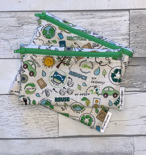 Go Green Reusable Snack Bag Set