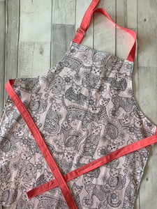Color Me Floral Cat Child's Apron