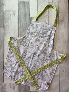 Color Me Construction Preschooler Apron