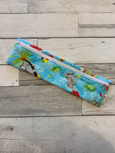 Summertime Sloth Reusable Straw/Utensil Bag