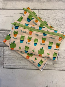 Catcus Reusable Snack Bag Set