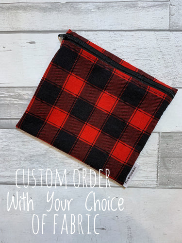 CUSTOM ORDER - Reusable Sandwich Bag