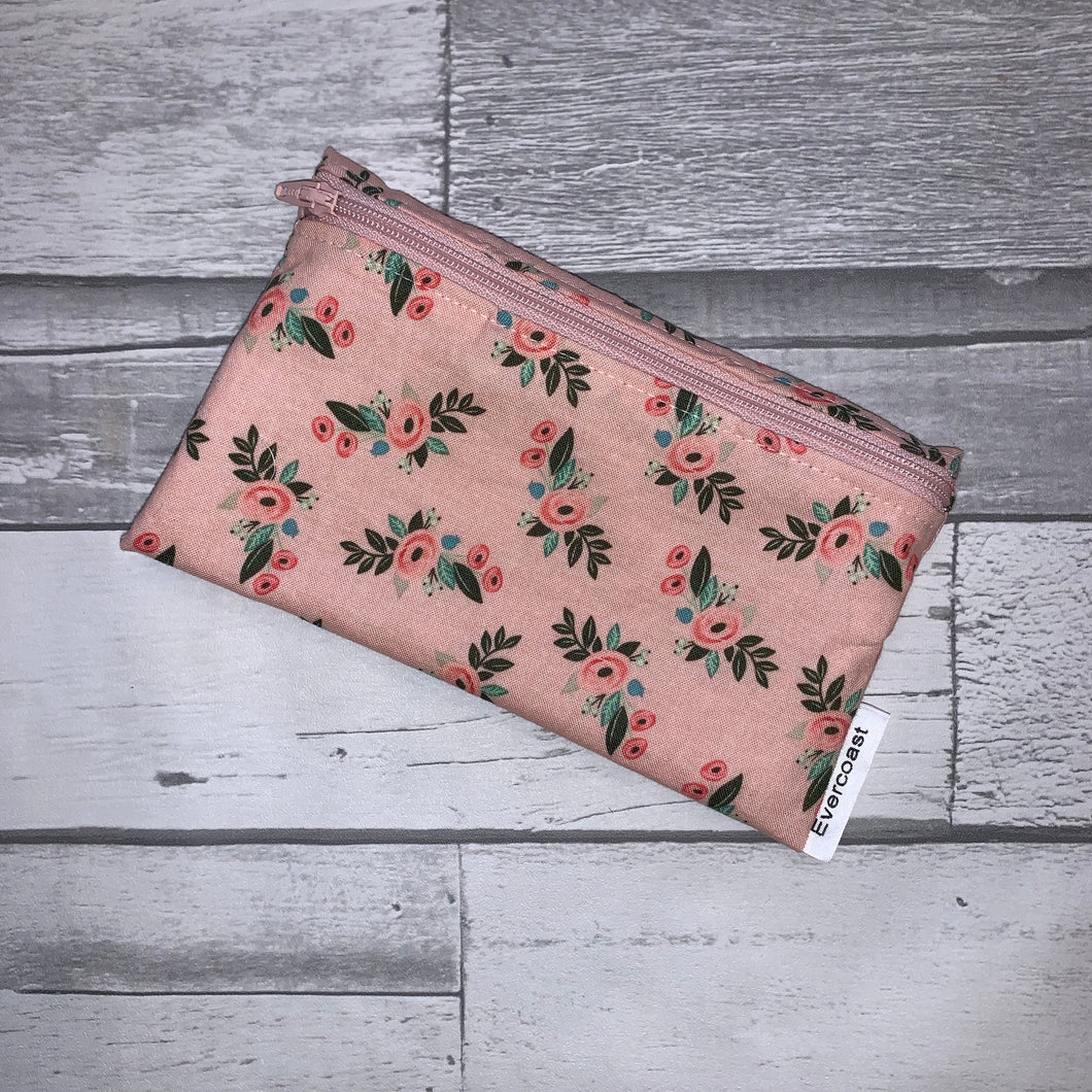 Pink Bliss Small Floral Reusable Snack Bag