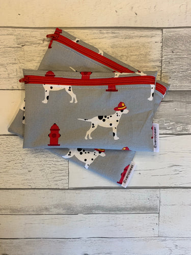 Dalmatian Reusable Snack Bag Set