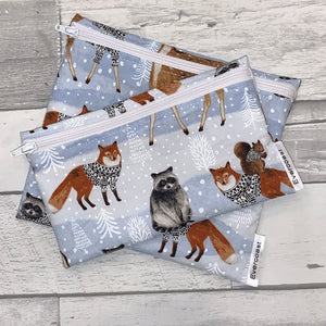 Sweater Animals Reusable Snack Bag Set