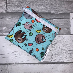 Fruity Sloth Reusable Mini Snack Bag