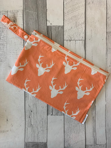 Peach Bucks Small Wet Bag