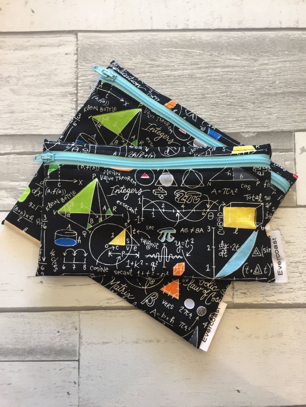 Chalkboard Math Reusable Snack Bag Set