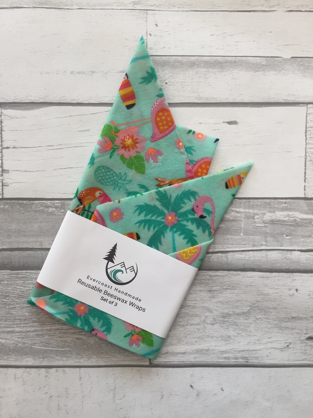 Tropical Birds Beeswax Wraps – Classic Set of 3