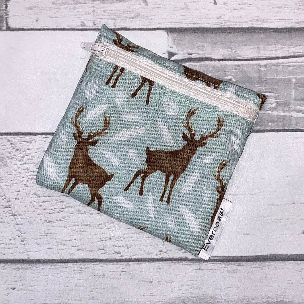 Winter Deer Reusable Mini Snack Bag