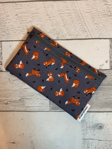 Foxes on Grey Reusable Snack Bag