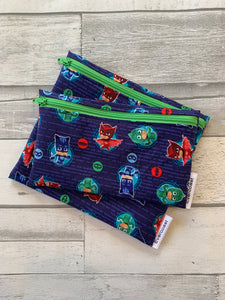 Navy PJ Reusable Snack Bag Set