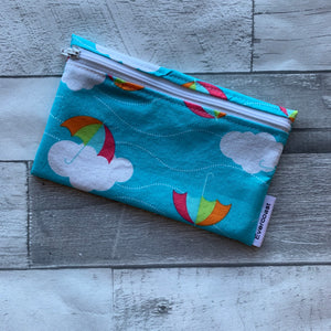 Rainbow Umbrellas Reusable Snack Bag