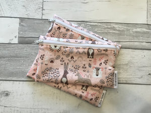 Pink Woodland Reusable Snack Bag Set