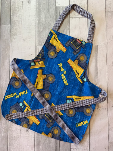 Construction Vehicles Toddler Apron
