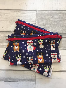 Super Dog Reusable Snack Bag Set