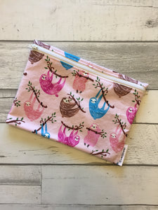 Pink Sloth XL Bag/Makeup Bag