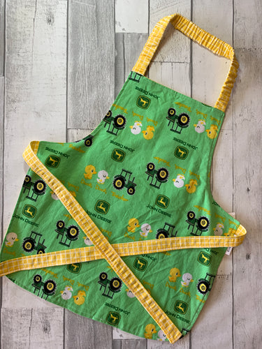Tractor Toddler Apron