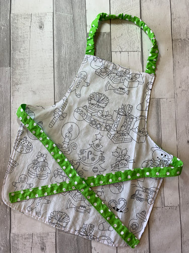Color Me Christmas Toddler Apron