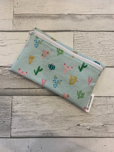 Mint Cactus Reusable Snack Bag