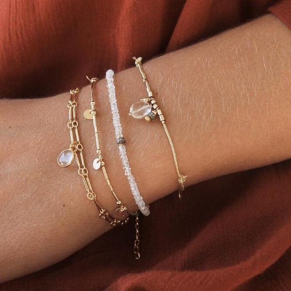 lafranci.en how to store jewelry - Silver-golden - bracelet with medals of golden