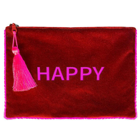 Pochette in velluto HAPPY