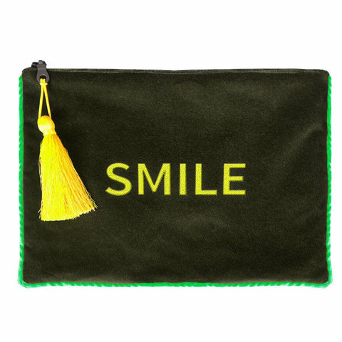 Pochette in velluto SMILE