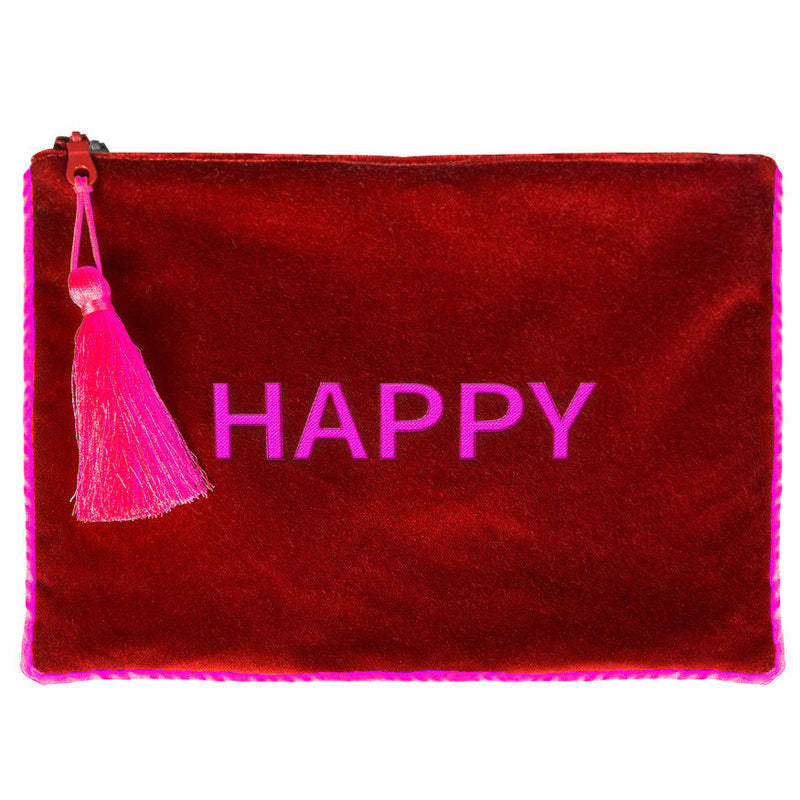 Velvet clutch bag. One Word