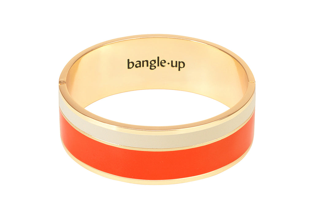 Two-tone enamelled closed bangle – 007