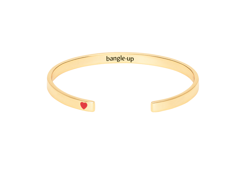 Very thin brass open bracelet. The little heart – 018