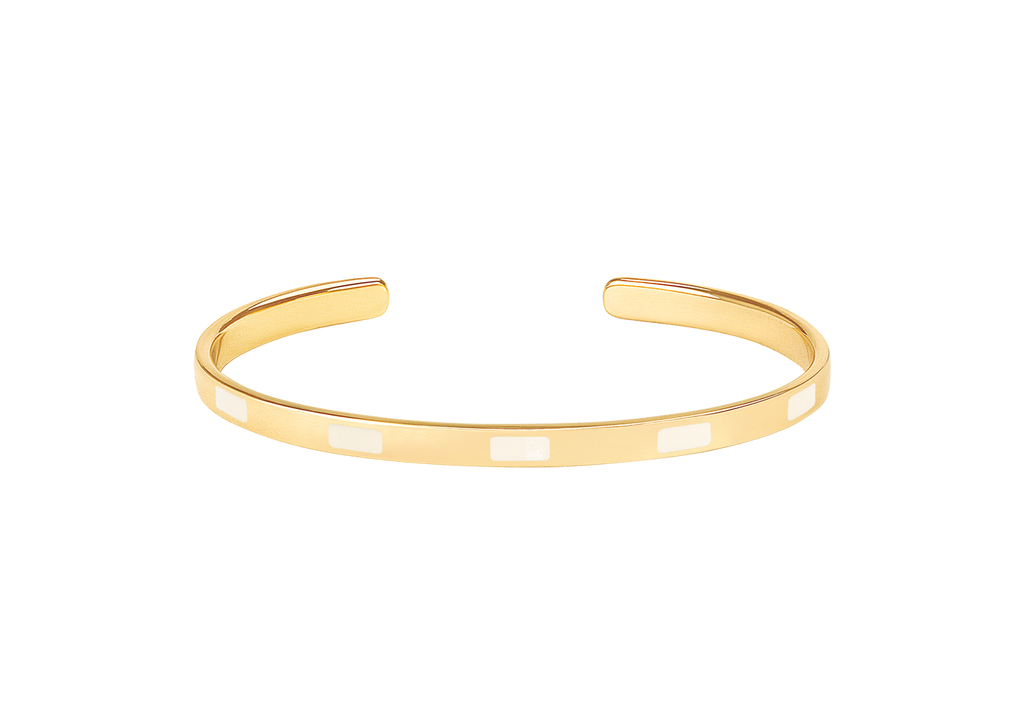 Extra thin open enamelled bangle. The rectangles – 016