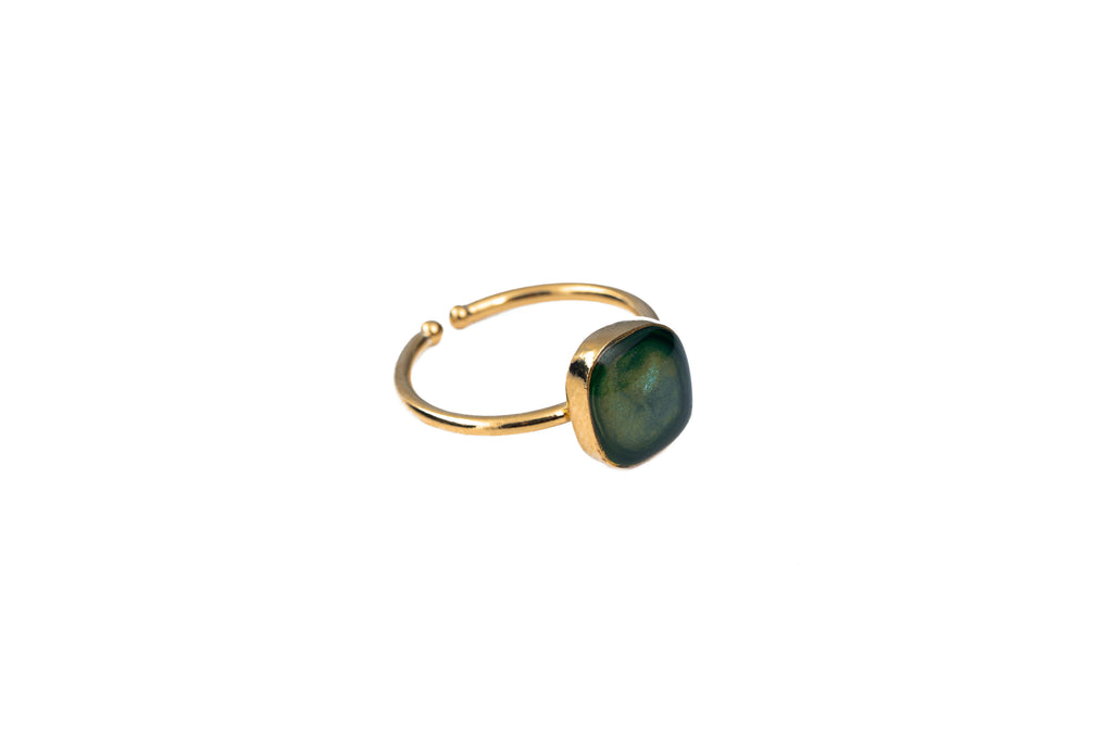 Ring with semiprecious stone square - 001