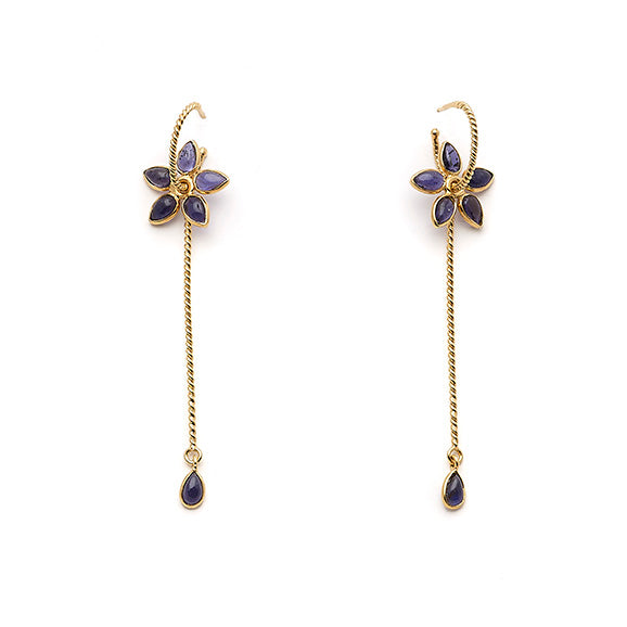 Wand pendant earrings. The little daisy - 010