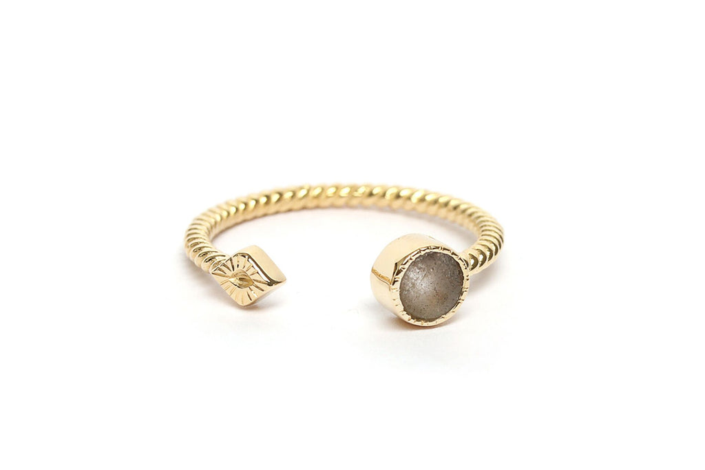 Ring with small round stone-007
