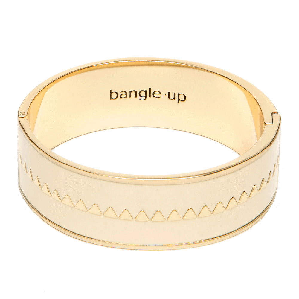 Closed enamelled bangle. The triangles - 006