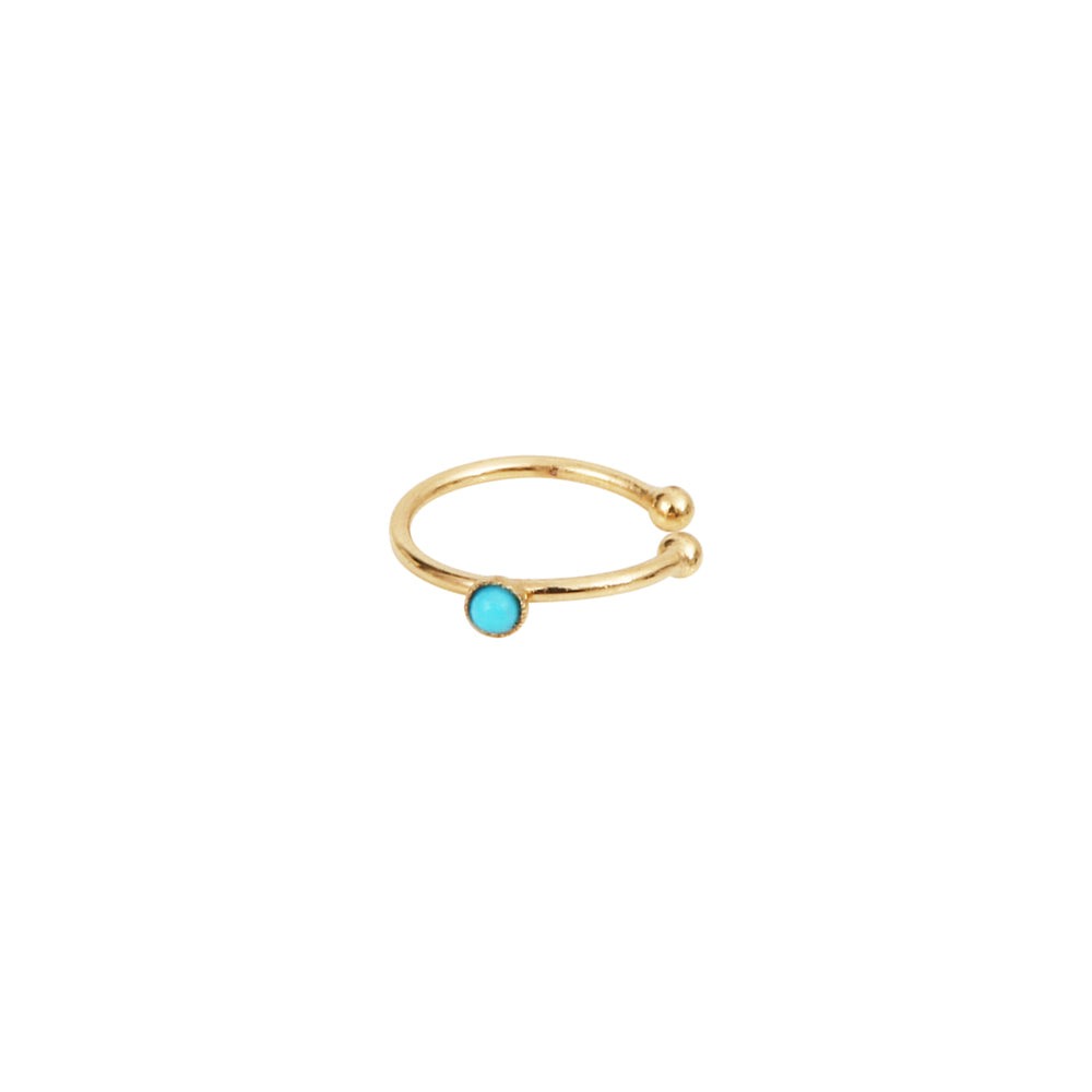 No-piercing earring with semi-precious stone – 009