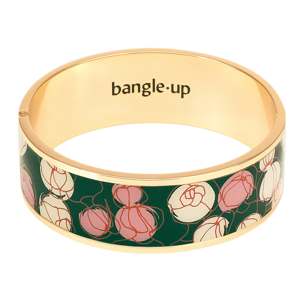 Closed enamelled bangle. The flowers - 009