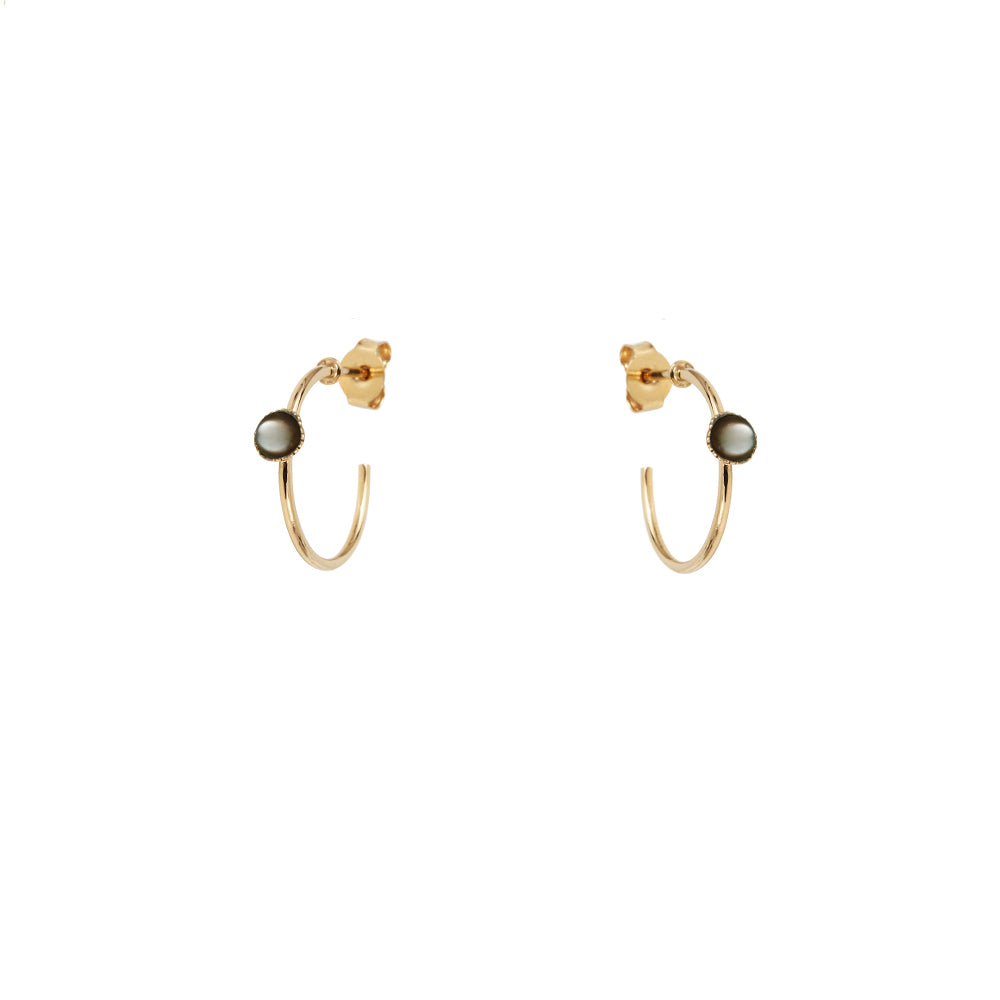 Small hoop earrings with stone – 005