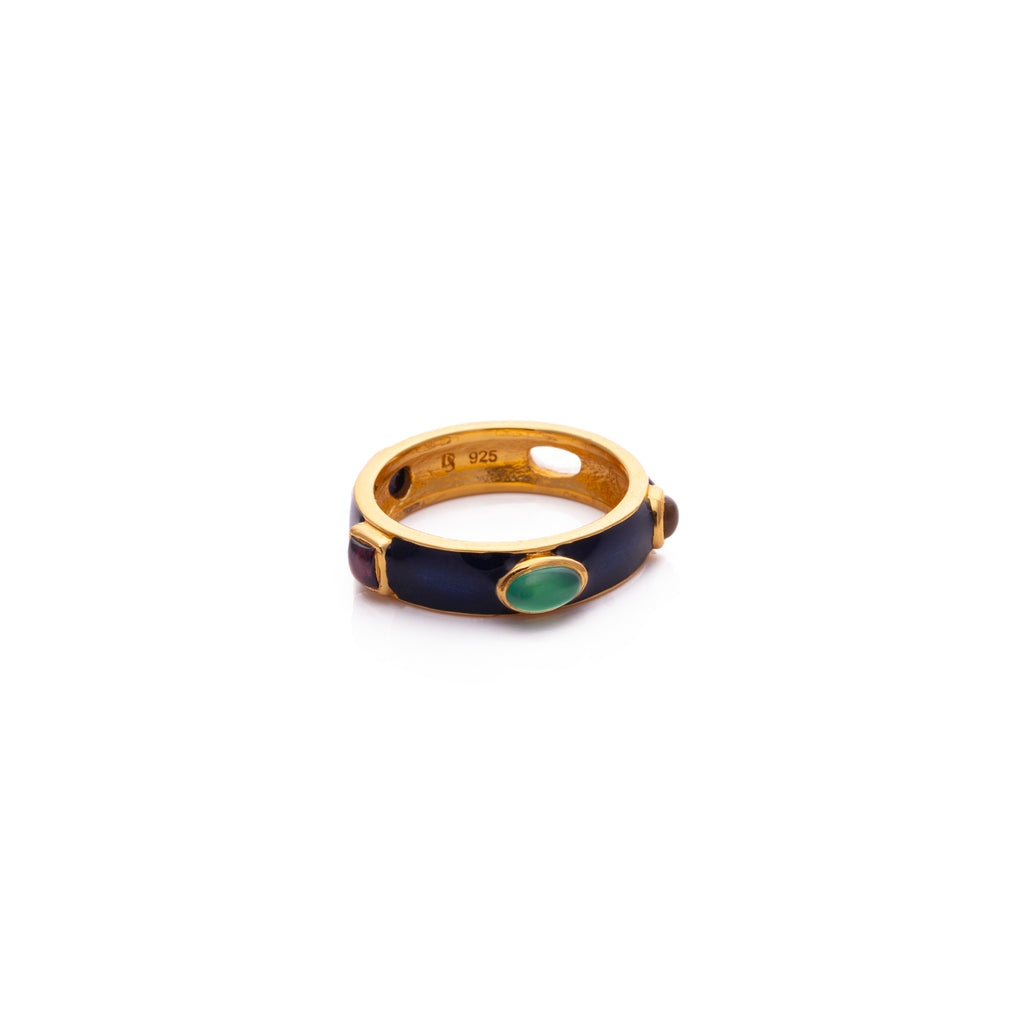Ring with semi-precious stones - 001