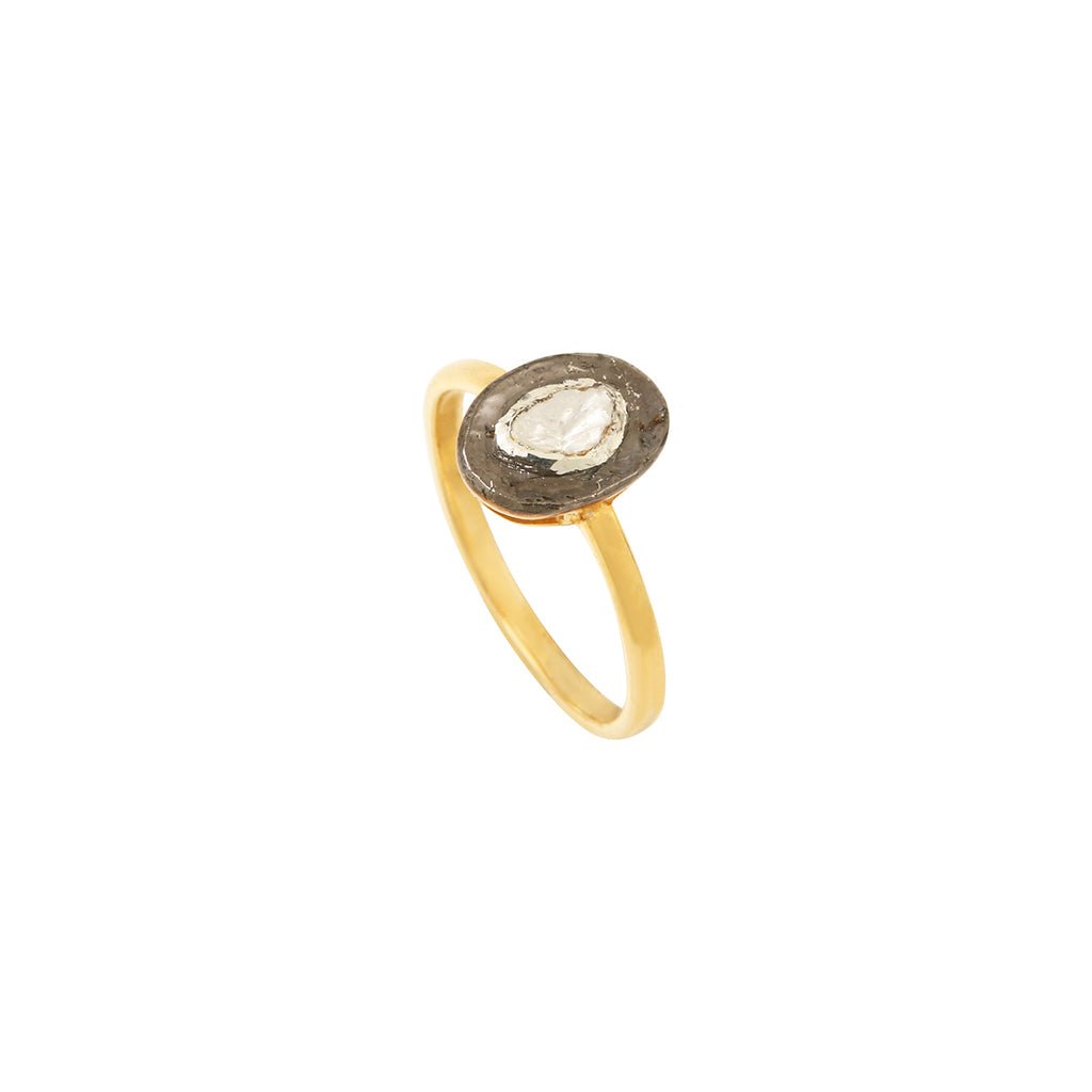 Polki diamond and enamel ring – 002