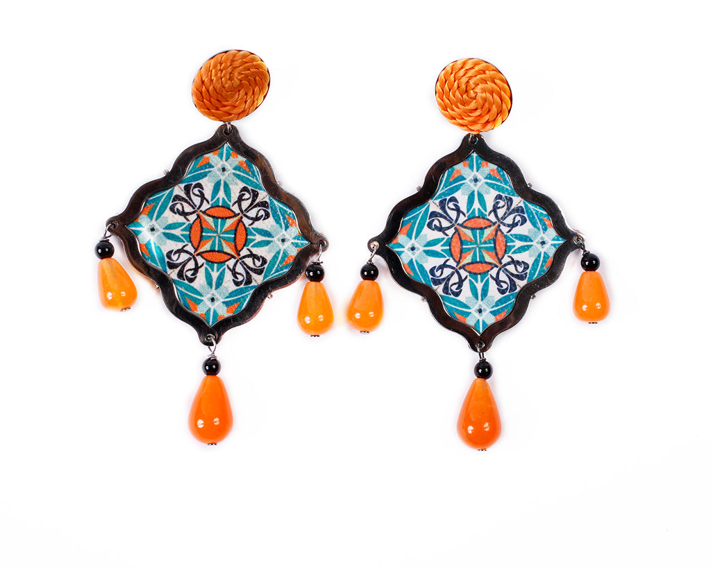 Mosaic earrings - 012