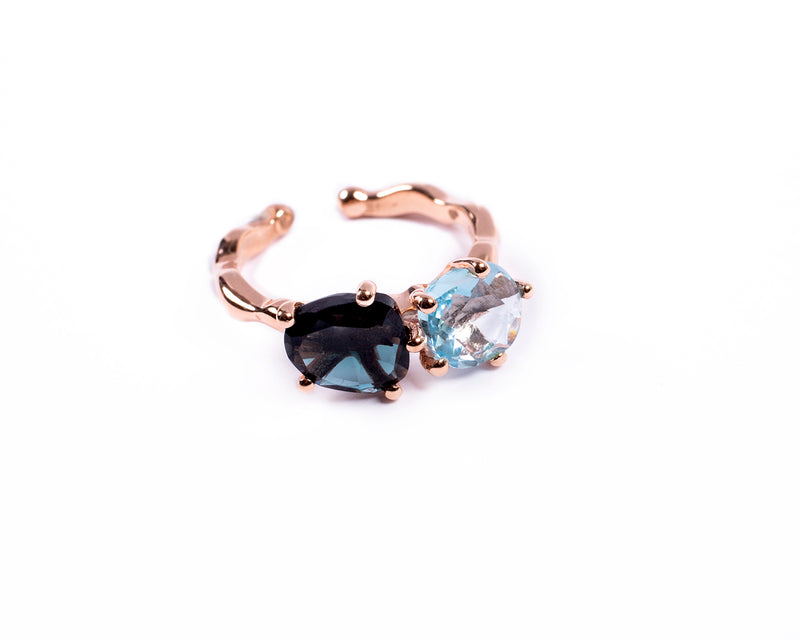 Ring with two precious stones – 001