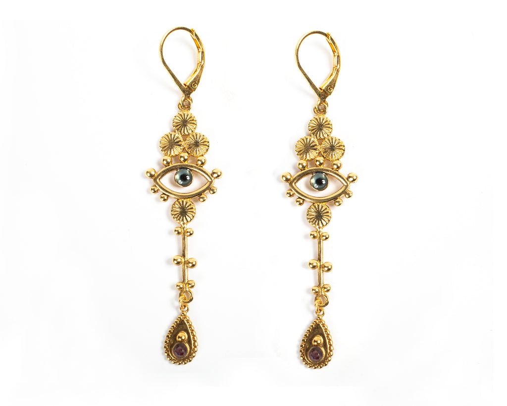 Leverback earrings with eye – 010