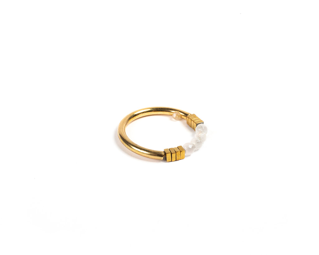Ring with small stones - 002