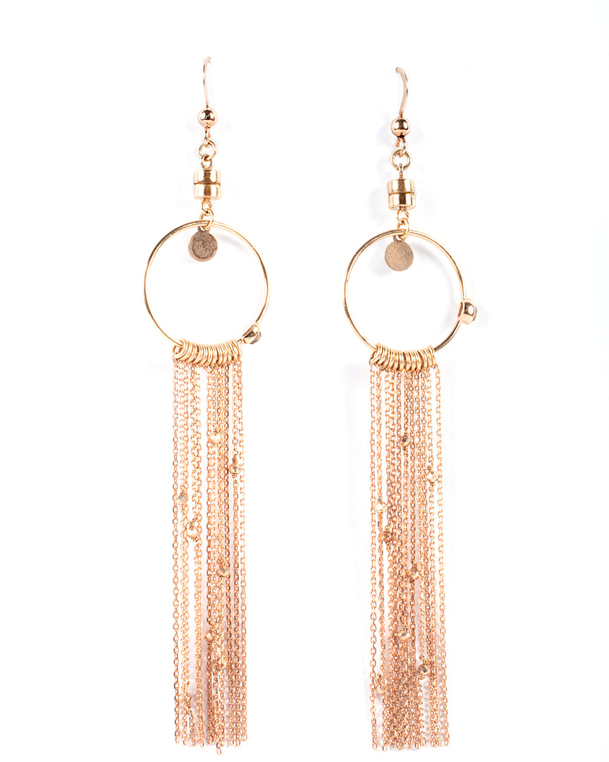 Dangling earrings with fringes and semiprecious stones – 007