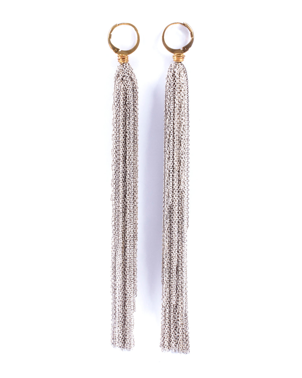 Multi-strand dangling earrings – 001