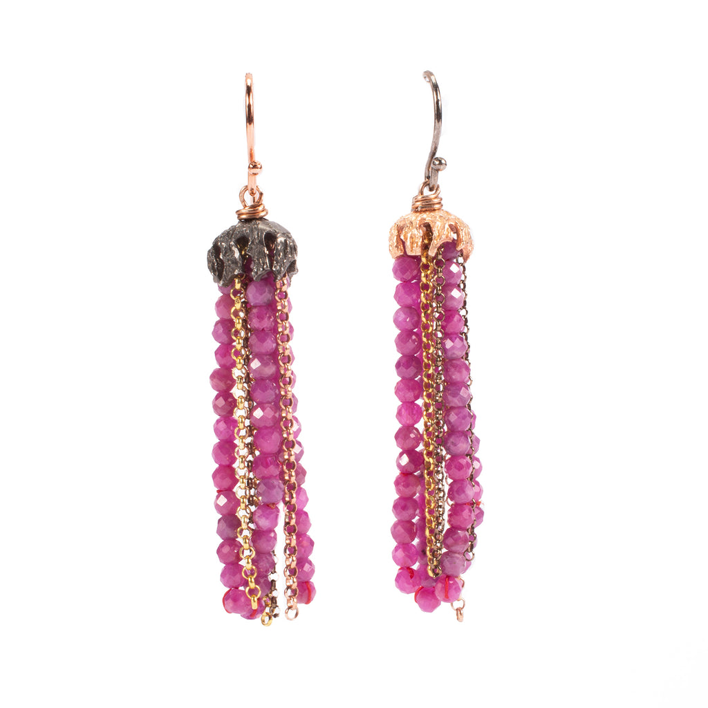 Drop earrings. The jellyfish - 011